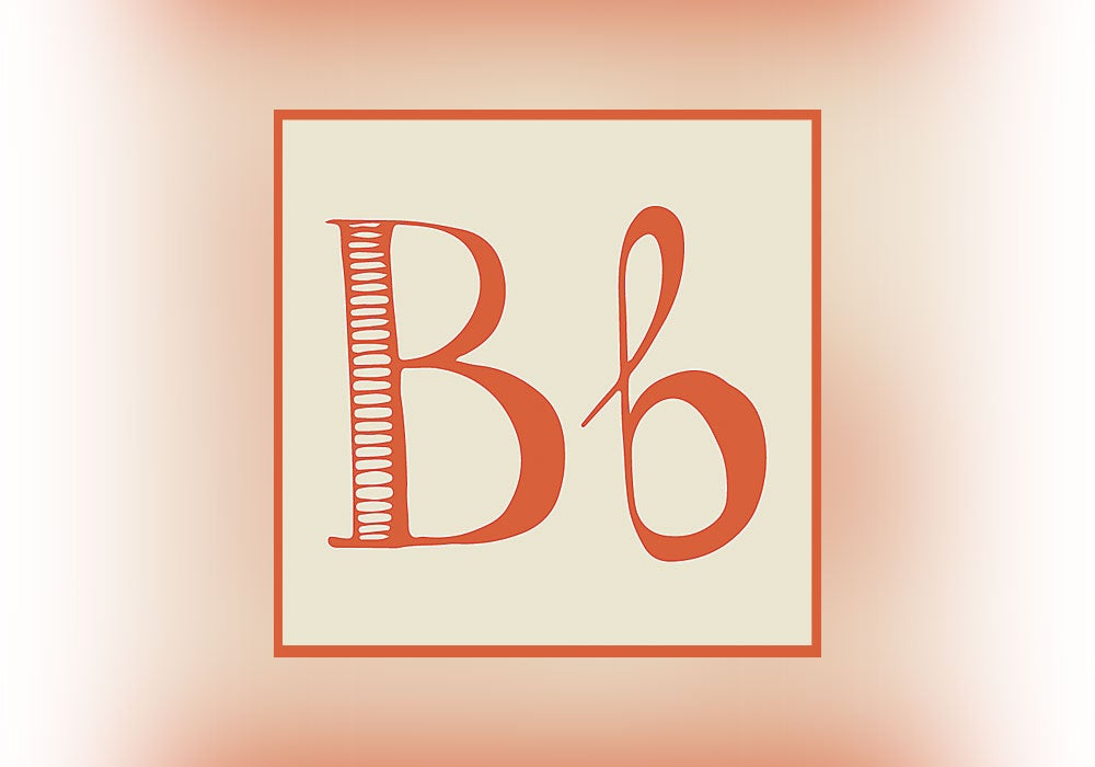the letter b once had a much longer name - everything after z