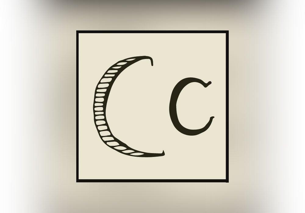 letter c, handwriting