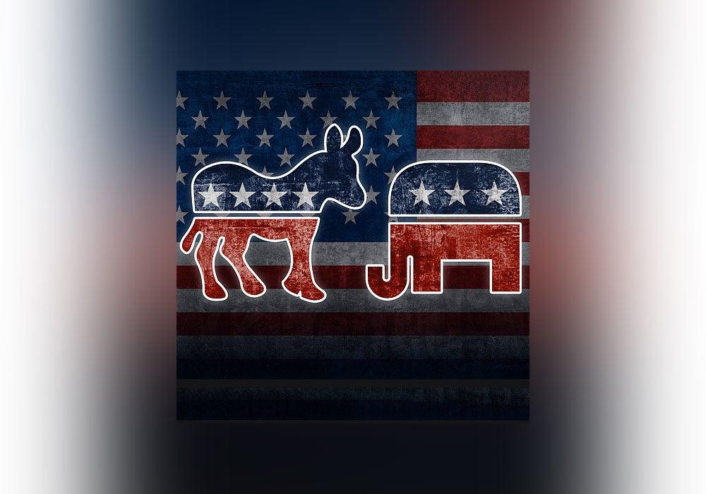 democrats, republicans, elephant, donkey