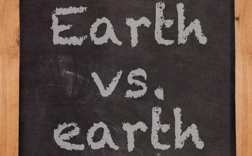 earth, chalkboard
