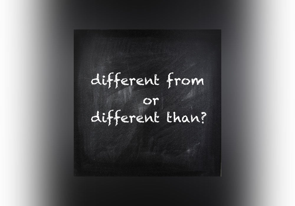Is It Different From Or Different Than Everything