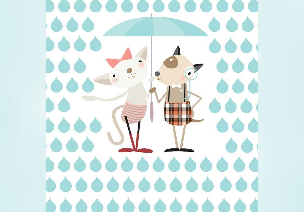 Raining Cats And Dogs Emoji