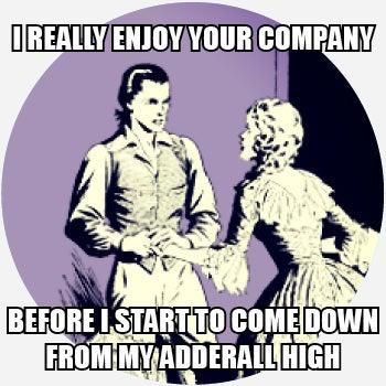 Adderall high