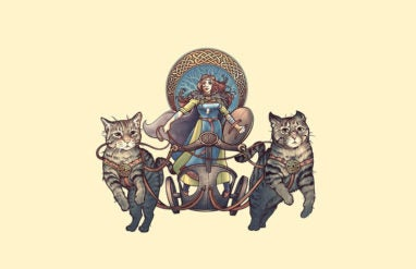 is friday named after a goddess with a chariot pulled by cats well