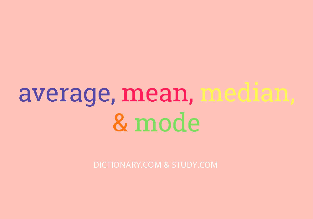 Whats The Difference Average Mean Median And Mode Everything