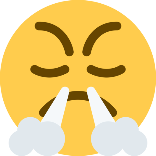 What does 😤- Face With Steam From Nose Emoji mean?