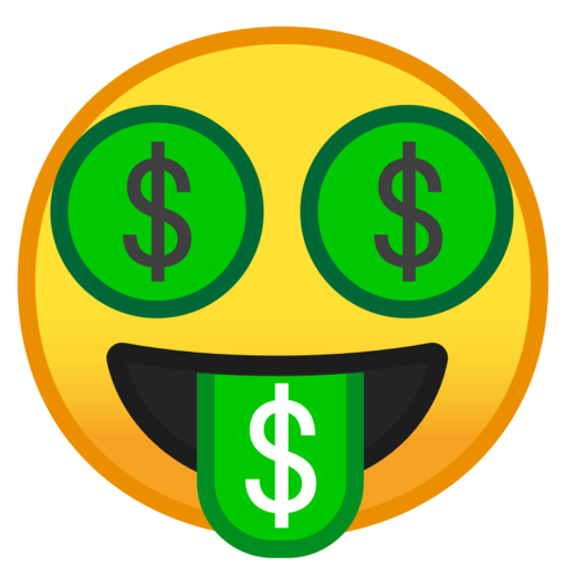 What does 🤑 - Money Mouth Face Emoji mean?