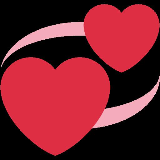 @y_iren Revolving-hearts-emoji