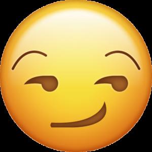 Résultats de recherche d'images pour «smirk smiley»