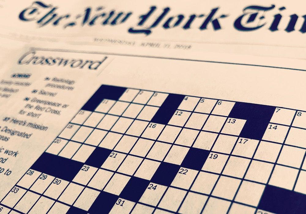 Crossword solution today nyt New York
