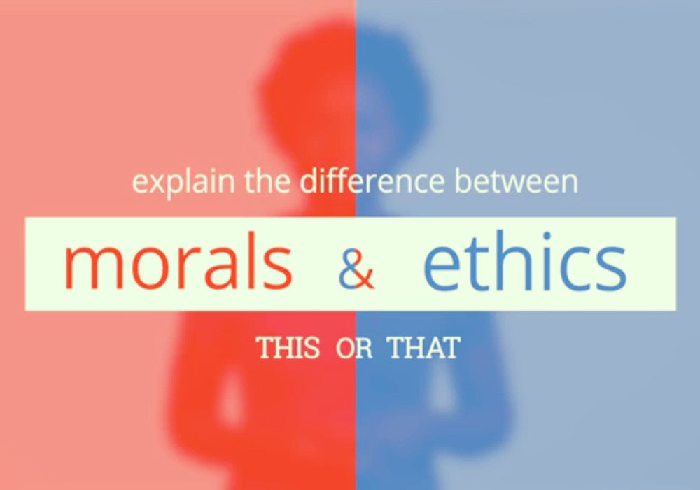 The Moral Differences Between Pro And >> What S The Difference Between Morals And Ethics Everything After