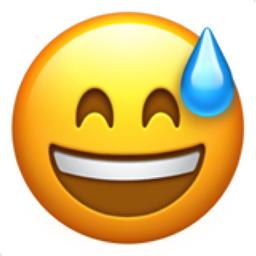 Afbeeldingsresultaat voor sweat emoji