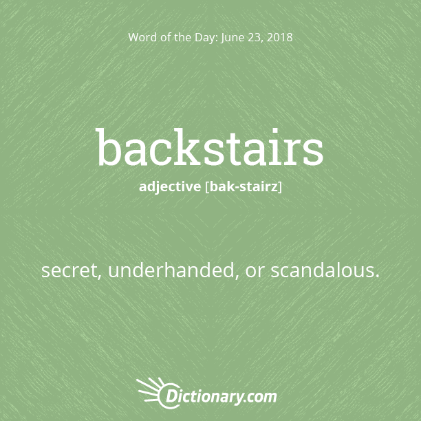 backstairs intrigue