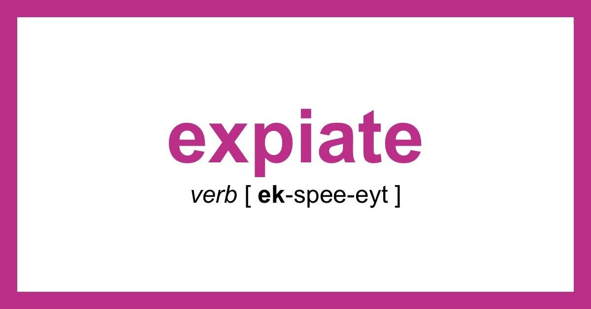 expiate