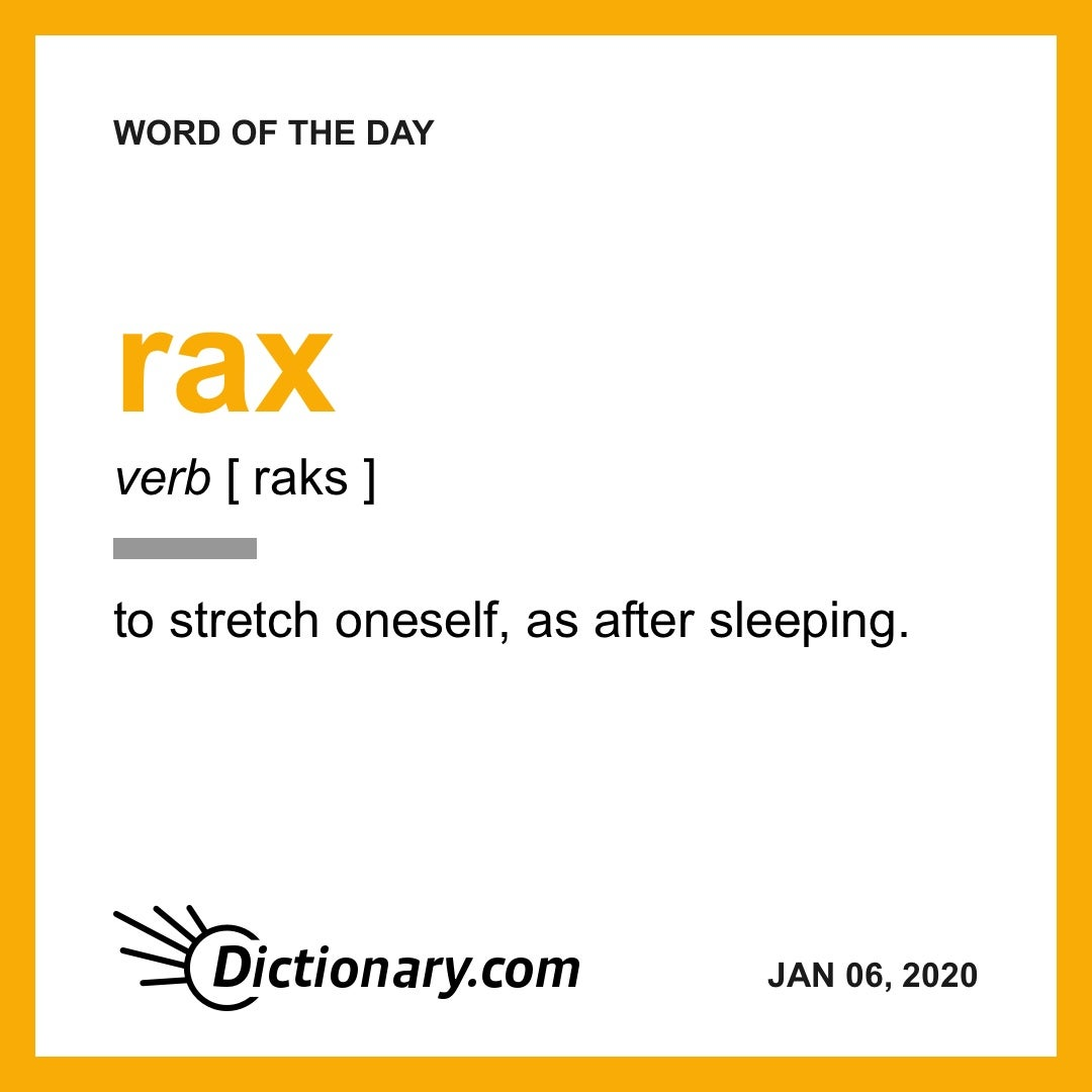 Word of the Day rax