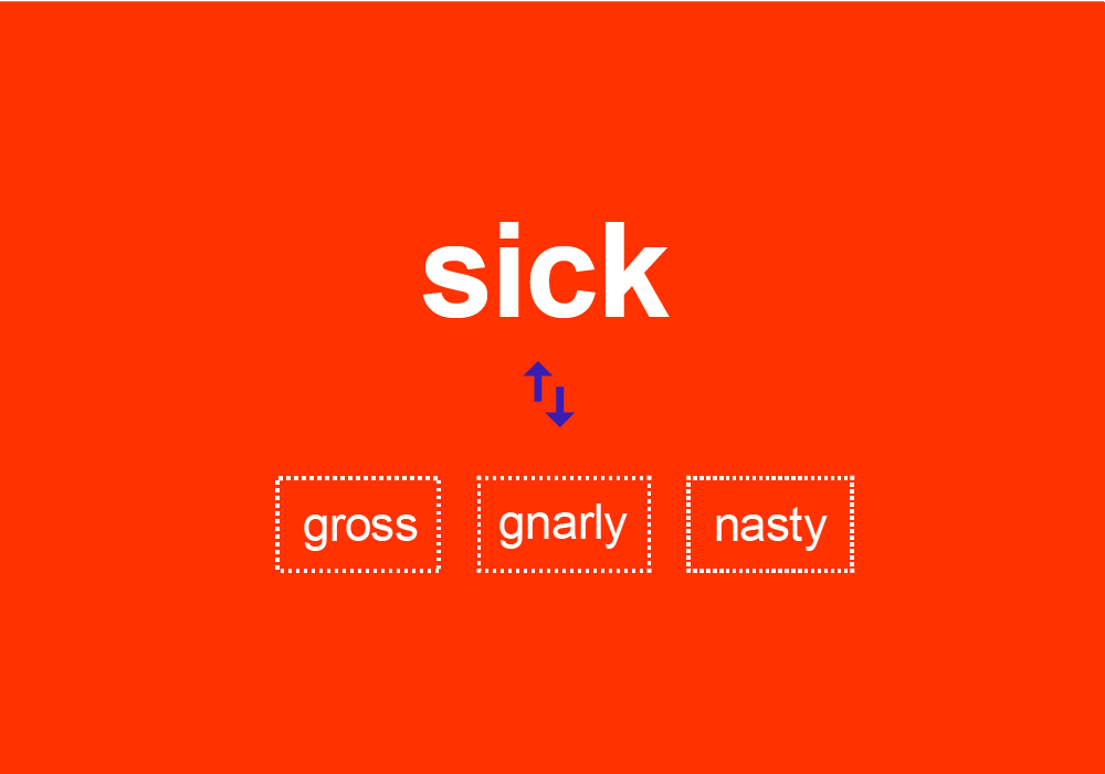 Gnarly Nasty And Sick Are These Synonyms Dictionary Com Distinctive, diverse, dissimilar, various, excellent. gnarly nasty and sick are these