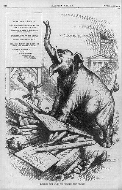 cartoon of elephant that represents the Republican Party