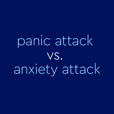 "text on blue background: ""panic attack vs. anxiety attack"""