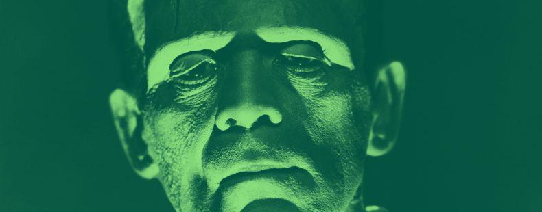 headshot of Frankenstein's monster
