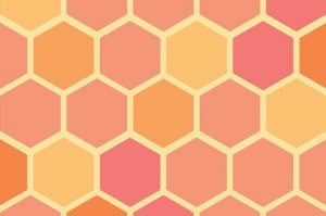 yellow and orange honeycomb pattern
