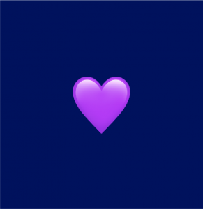 Meaning Of Purple Heart Emoji Emoji Definitions By Dictionary Com